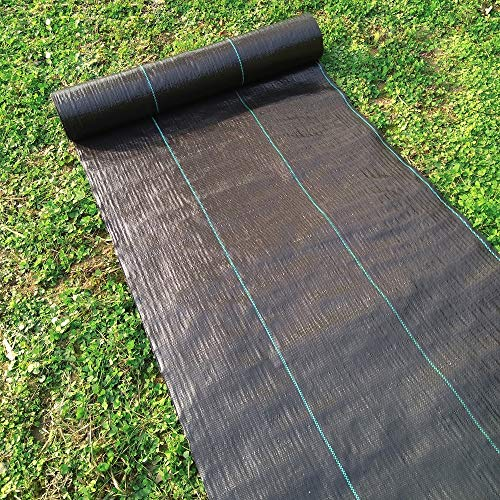 Plastic Mulch Weed Block Agfabric Ground Cover 3x50ft Heavy PP Woven Weed Barrier,Soil Erosion Control and UV Stabilized